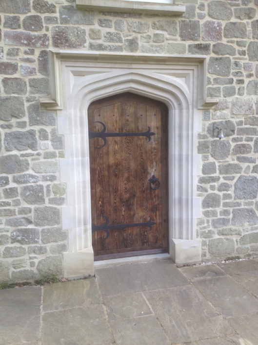 Designed and created ,chicksgrove masonry and oak door