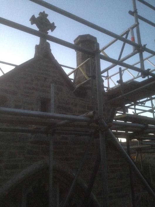 Lamerton,masonry rebuild