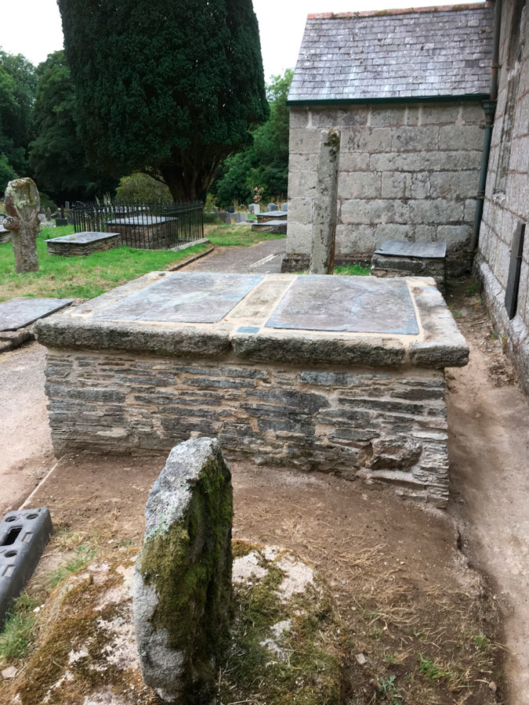 Lanteglos tomb rebuild