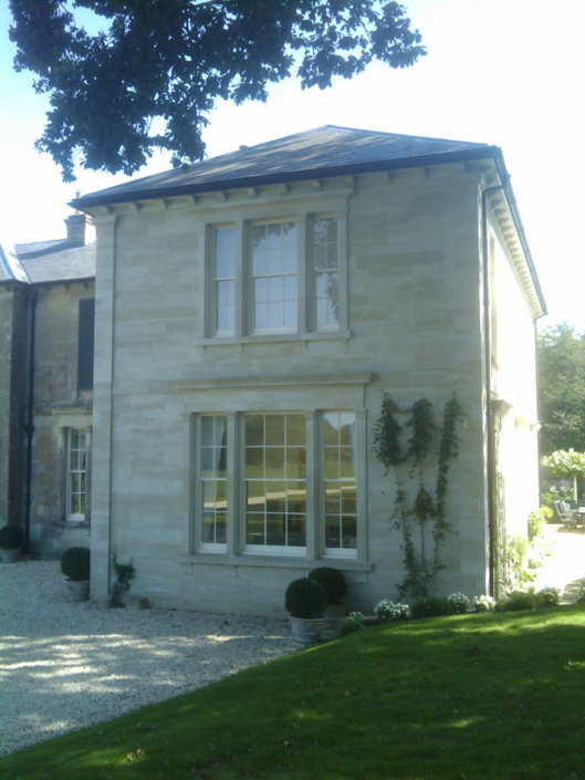 New South wing to country house , chilmark stone
