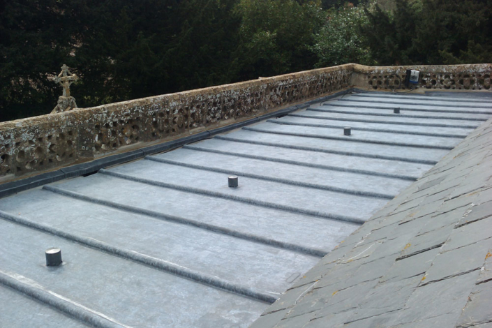 Somerset Church new leadwork , new timber supports