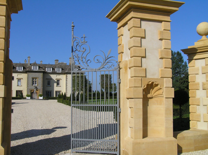 complete new gate piers ,gates and bridge to Somerset country House