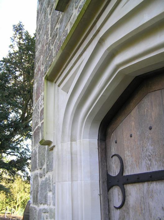 new work , lancet arch , jambs , and oak door.Dorset, wiltshire.