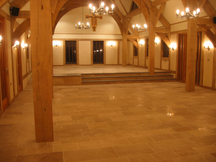purbeck stone ,newforest timber frame building