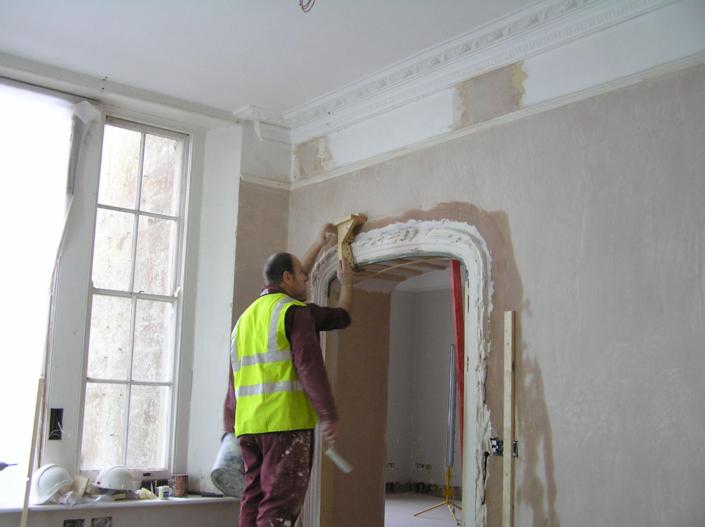 running plaster mouldings, Wiltshire