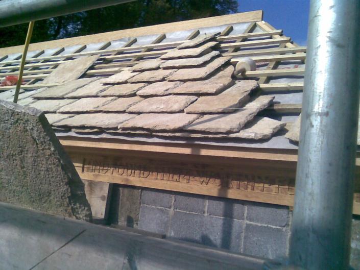 stonham new stone tile roofand oak structure