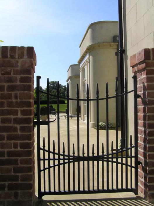 wrought iron gate made inhouse