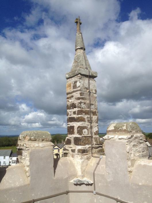 Devon pinnacle rebuild