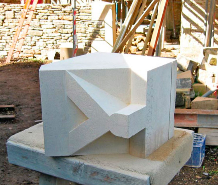 corsham ostlers house roughing out for apex finial