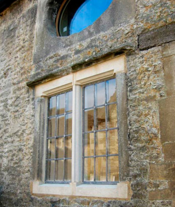 corsham ostlers house stonework replacement and leaded lights