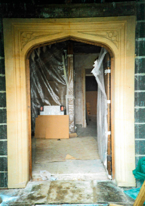 lancet arch doorway and bathstone porch2